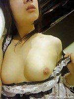Selfshot homemade horny asian with glasses